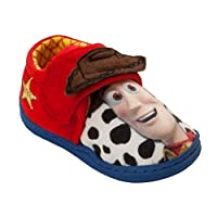 Boys Toy Story 4 Sheriff Woody Character Touch Fasten Mules Slippers Size 6-12