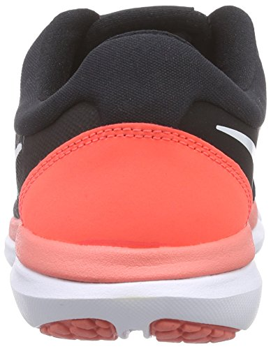 Nike Flex Run 2015, Chaussures de course femme Noir (Black/White/Hot Lava 002)