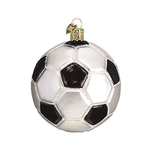 Old World Weihnachten Sports Equipment Glas geblasen Ornament Fußball -