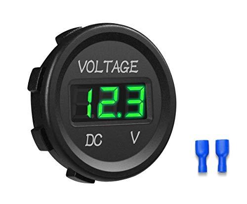 YGL 12-24V Impermeable DC Voltímetro Pantalla Digital