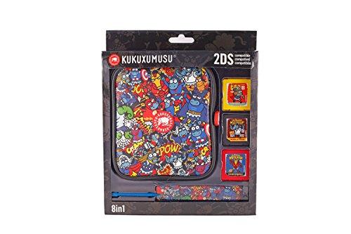 Indeca - Pack de 8 componentes E Kukuxumusu Con Funda (Nintendo 2DS)