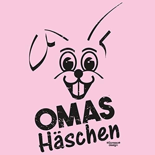 Damen Oberteil Oster-Geschenke Idee für Mama Oma / Girlie Tshirt mit Hasen Aufdruck Omas Häschen Farbe: rosa Rosa