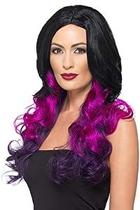 Smiffys 48903 - Peluca para mujer, color morado
