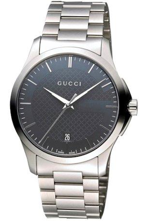 GUCCI orologio uomo G-TIMELESS cinturino acciaio argento 38mm YA126441