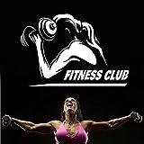 Hanteln Gym Name Aufkleber Mädchen Fitness Crossfit Aufkleber Bodybuilding Poster Vinyl Wandtattoos...