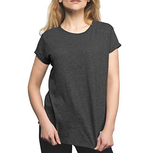 urban ace | Basic T-Shirt, Loose fit | für Damen, Frauen | Freizeit, Sport | locker geschnitten | aus 95% Baumwolle (Charcoal, L)