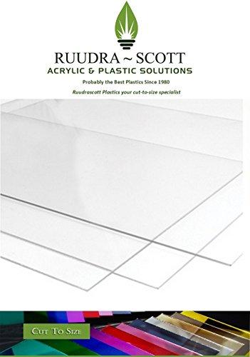2mm Plexiglas Acryl klar Kunststoff Tabelle Variable Größen zu wählen 297mmx210mm farblos -