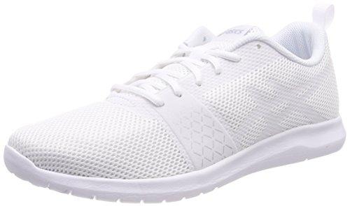 Asics Kanmei MX, Chaussures de Running Femme, Blanc Cassé (Whitewhitesilver 0101), 40.5 EU