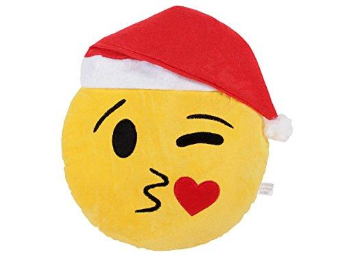 emojis ki en Emoji Kissen Weihnachtskissen Emoticon Weihnachten Couchkissen Deko von Alsino, Variante wählen:Ki-51 Kuss Xmas