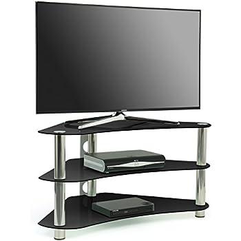 Centurion GT7 Contemporary Design Flat Screen LCD/Plasma/LED 26''-42'' Corner Black Glass Stand