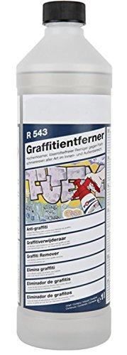 Graffiti Entferner R543 1000ml Flasche lösemittelfrei & hochwirksam für Innen und Außen Farblöser Graffitientferner