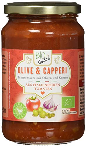 Bio Gusti Tomatensauce Olive und Kapern, 6er Pack (6 x 340 g)