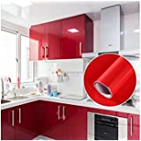 [Sponsored]Wallpaper Cupboard Door Drawer Liner Cover Self Adhesive Vinyl (red)Wall Sticker RollKitchen Cabinet Anti-oil Transparent Wall Sticker Furniture Protection Vinyl PVC Waterproof Wall Paper Stickers