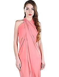 NiSeng Mujer Vestido de Gasa Pareo Color Sólido Para La Playa Chiffon 100 * 140 CM