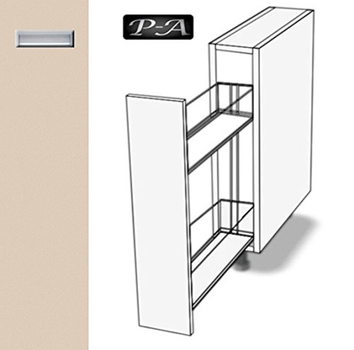 #Premium-Ambiente EOE125 Unterschrank Apothekerschrank eingelassener Griff EURODEKOR (Breite 20cm, 56 Sandbeige)#