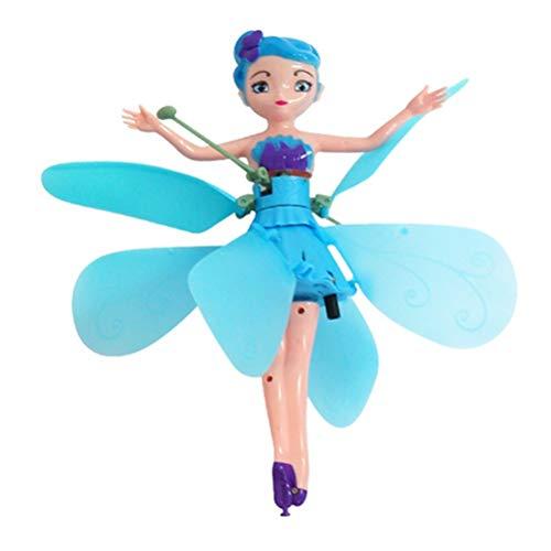 Naduew Muñeca de Hada Voladora, Control de Inducción de Aviones RC Juguetes para Niños para Adolescentes Ballet Girl Flying Princess Doll