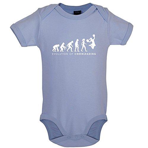 Blau Cheerdance Kostüm (Evolution of Woman - Cheerleading - Lustiger Baby-Body - Taubenblau - 0 bis 3)