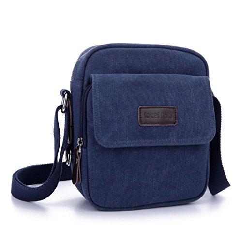 Wmshpeds Tela moda borsa a tracolla uomini lavabile borsa messenger in tela coppia zaino casual C