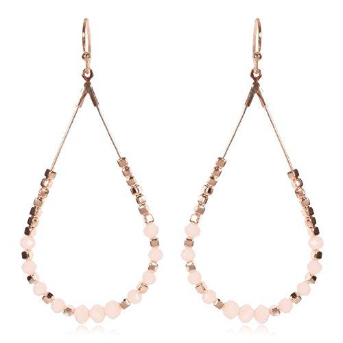 Sadasd orecchinogli stati uniti e l'europa, la bella ed elegante hotel in stile minimalista esposto le goccioline di acqua di perline orecchini fatti a mano di colore rosa