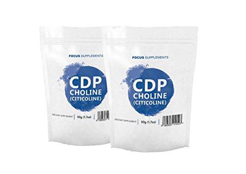 Citicolin (CDP Cholin) Pulver | Für verbessertes Gedächtnis, Fokussierung und Konzentration | KOGNITIVE UNTERSTÜTZUNG | Focus Supplements - Verpackt in Großbritannien in ISO-lizenzierten Einrichtungen - 100% Geld-Zurück-Garantie (100g)