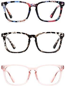 Tijn Unisex Wayfarer sin receta gafas marco lente transparente gafas