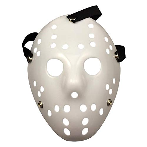 Lionina Jason vs Freddy Maske Halloween Karneval Party Maskerade Vintage Jason Voorhees Freddy Hockey Festival Halloween Maskenade Party Maske, White Mask, Free Size