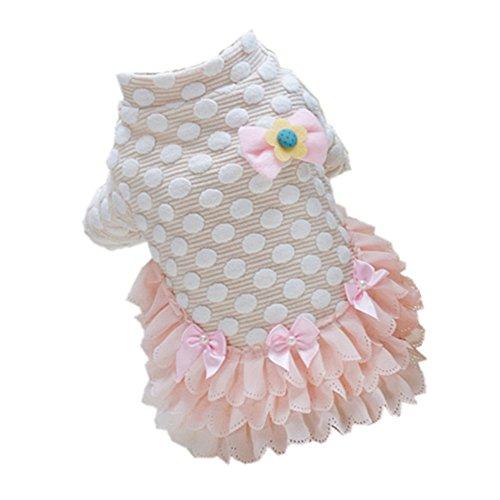 Vestido de Perros Bowknot Creativo - S