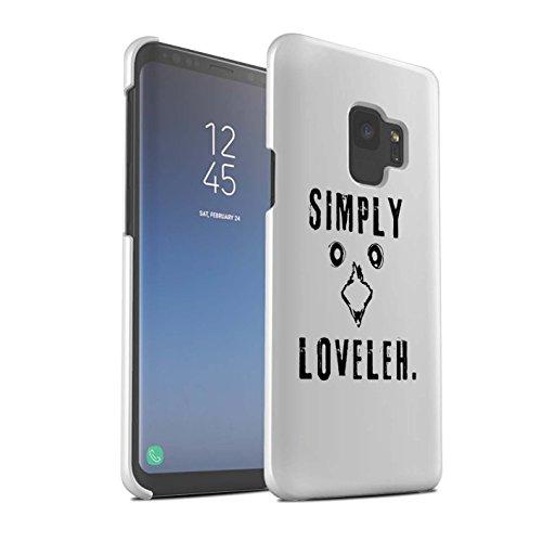 Stuff4® Matte Snap-On Hülle/Case für Samsung Galaxy S9/G960 / Simply Loveleh 2 Muster/Einfach Loveleh Kollektion -
