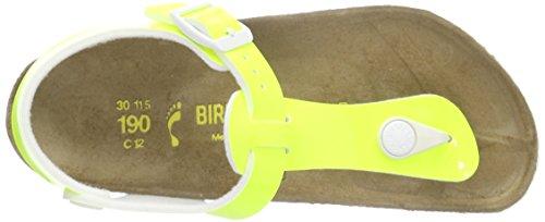 Birkenstock Kairo, Sandales Bride cheville fille Jaune - Gelb (Lack Neon Yellow)