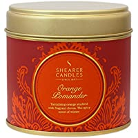 Shearer Candles Orange Pomander Large Scented Gold Tin Candle - Orange