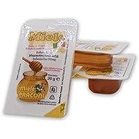 Unidades 50 Miel 100% italiano Millefiori de bandeja para monodosis de gr. 20 Edulcorante Honey Natural Sweetener.