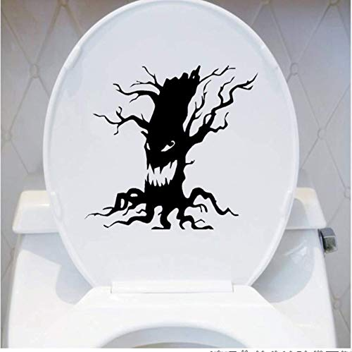 Stücke Baum Vinyl Wandaufkleber Halloween Scary Baum Gesicht Wc Aufkleber Wohnkultur ()