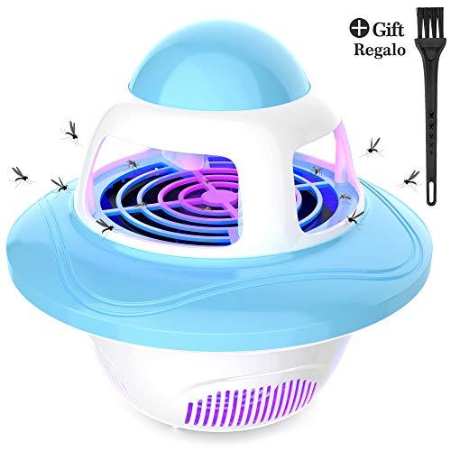 Lámpara Antimosquitos, Repelente Mosquito Eléctrico USB UV Lampara para Mata Mosquitos Insectos Polillas Moscas al Interior Cocina Dormitorio Almacén Garaje