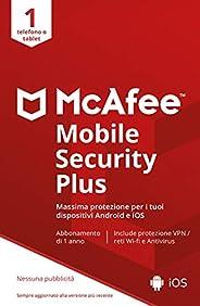 McAfee Mobile Security With VPN 2021, 1 Dispositivo, 1 Anno, Mobile, Codice d'Attivazione via E