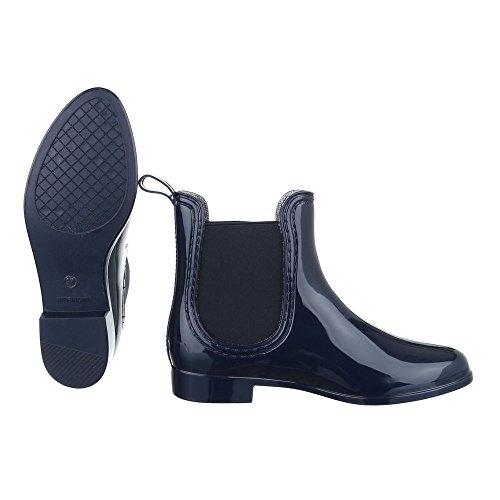 Ital-Design - Stivali di gomma Donna Dunkelblau