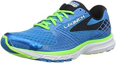 Brooks Herren Launch 3 Laufschuhe, Blau (Blau/Grün), 42.5 EU
