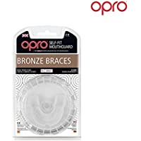 Opro Adult Bronze Level Mouthguard for Braces for Ball, Stick and Combat Sports - 18 Month Dental Warranty