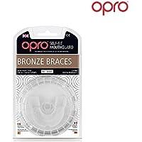 Ortodontico Paradenti OPRO Self-Fit GEN3 Bronze Braces - Paradenti per Apparecchio ortodontico per Rugby, Hockey, MMA, Boxe, Lacrosse, Football Americano, Basket - Progettato e realizzato in UK(Bianca)