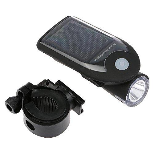 WEKA Fahrrad USB 2,0 Wiederaufladbar Frontleuchte Scheinwerfer LED Solar Lampe Schwarz