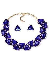 3d6e956967b1 YANGDJ Collar Collar Collar Collar Collar De Cristal Y Colgante Declaración  Collar Collar Conjunto Adornos Accesorios