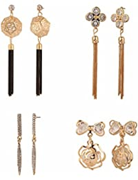Efulgenz Jewellery Combo Of Stylish Fancy Party Wear Tassel Earrings And Danglers Earrings For Girls & Women