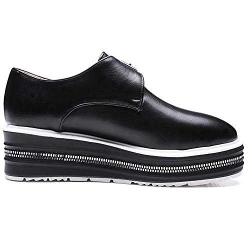 Compensees Moyen TAOFFEN Black Chaussures Talons Femmes qOHfxw6v0