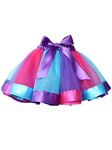 Blansdi Mädchen Kleider Tutus Tutu Rock Tütü Petticoat Minikleid Geschenk Dress Partykleid Tüllrock Tanzrock Ballettrock Ballettkleid Spitzenkleid Swing Kleid in Verschiedenen Farben 0-8 ()