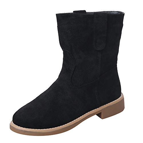 Frenchenal-Bottes Femme Plate Hiver Daim Cuir Neige Compensé Bottine Cheville Chaude Winter Ankle Boots Chaussures Warm Confortable
