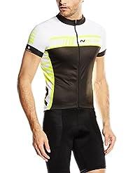 Nalini Maillot Ciclismo Tescio Negro / Amarillo Flúor S