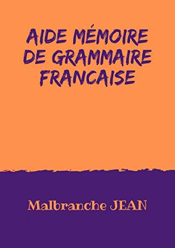 Couverture du livre Aide Mémoire de Grammaire française
