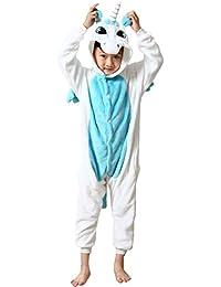 DEBAIJIA Pijama Animal Para Niños Niñas Disfrace Cosplay Franela Traje del Anime Invierno Calentito Pyjamas Navidad