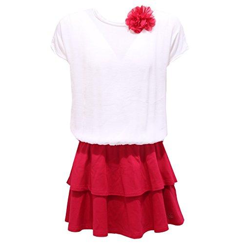 0876S vestito bimba LIU JO JUNIOR abito fuxia bianco dress kid  12 YEARS  4d61a22f3fb