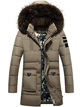 MHGAO Larga capa de los hombres espesa la chaqueta abajo , khaki , xxxl
