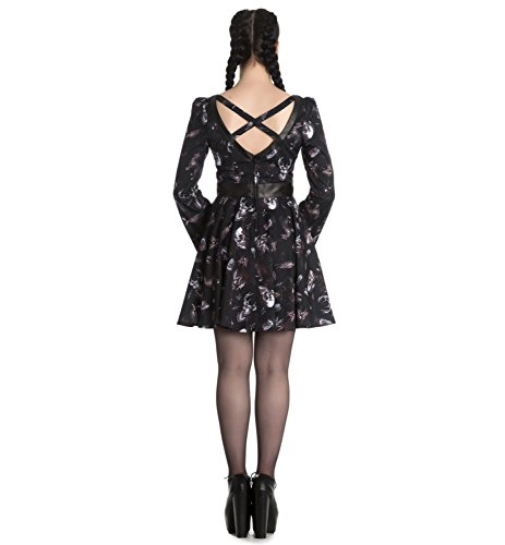 Hell Bunny Spin Doctor Goth Witch Mini Dress Taxidermy Skulls XXL 18